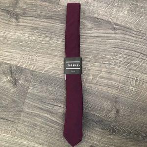 Topman burgundy necktie (2-inch width)